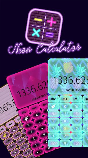 Screenshot 4 de Calculadora De Neón para android