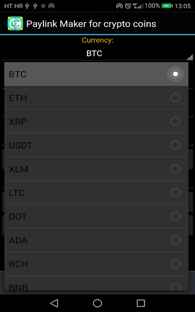 PayLink Maker for crypto currency coins screenshot 12