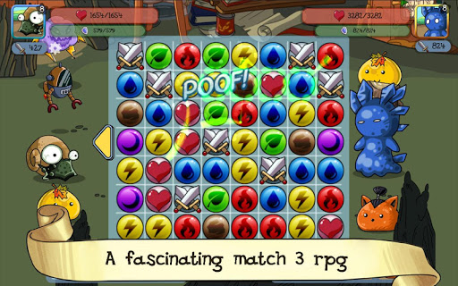 fluffy adventure - match3 rpg & action puzzle game screenshot 1