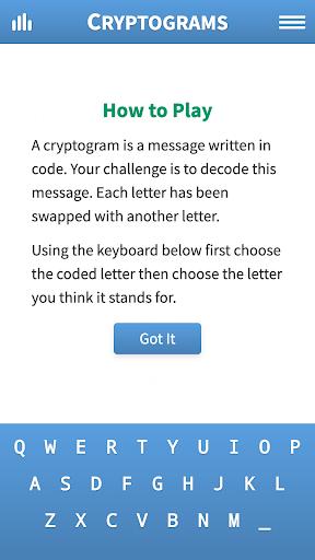Cryptogram Puzzles 1.71 screenshots 5