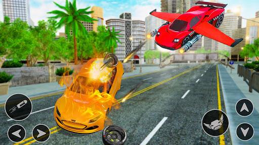 Flying Car Shooting Game: Modern Car Games 2021  Screenshots 13