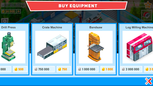Timber Tycoon - Factory Management Strategy apktreat screenshots 2