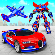 US Police Robot Car Transporter Police Plane Game