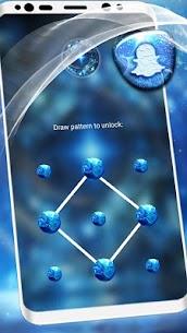 Blue Fractal Art Launcher Theme 4