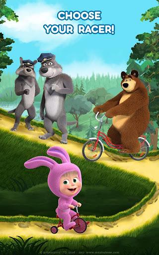 Masha and the Bear: Climb Racing and Car Games apkslow screenshots 18