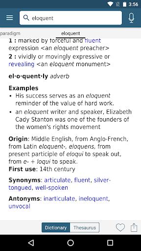 dictionary - m-w premium screenshot 3