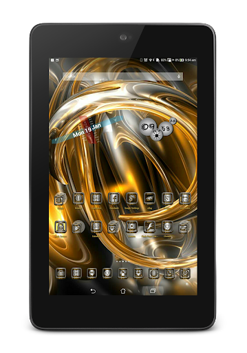 SilverGold 3D Icon CM&Launcher For PC Windows (7, 8, 10, 10X) & Mac Computer Image Number- 24