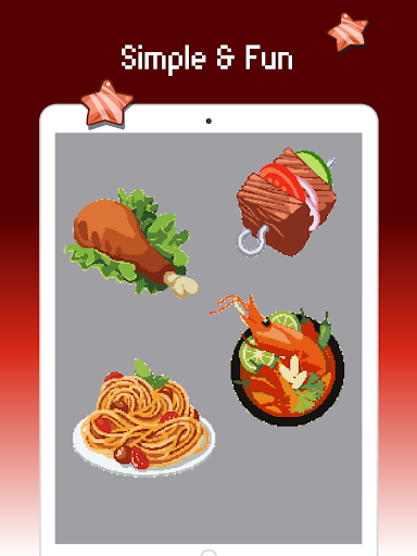 Food color by number : Pixel art coloring 1.5 screenshots 10