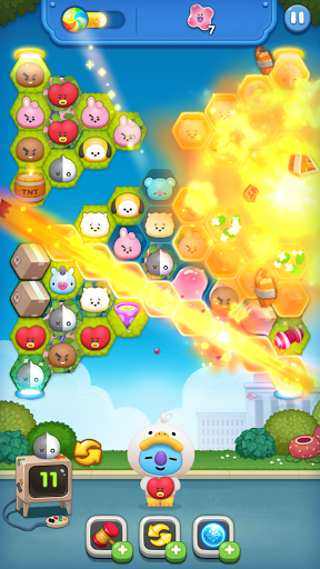 LINE HELLO BT21- Cute bubble-shooting puzzle game! 2.2.2 screenshots 1