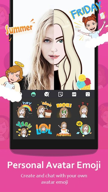 GO Keyboard - Cute Emojis, Themes and GIFs  poster 2