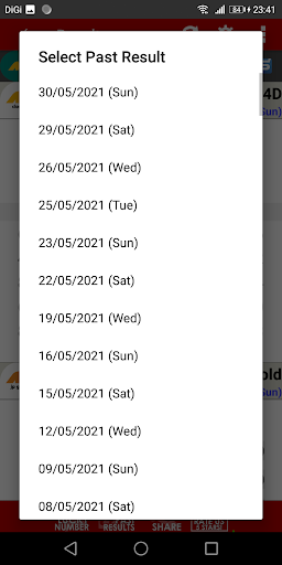 Live 4D Results (MY & SG) apktram screenshots 5