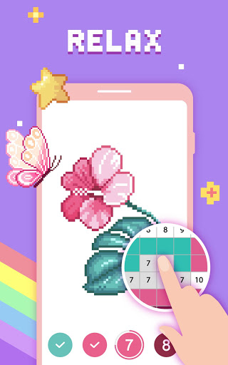 Paint by Number - Pixel Art, Free Coloring Book 3.39.2 Screenshots 17