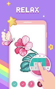 Paint by Number - Pixel Art, Free Coloring Book Screenshot