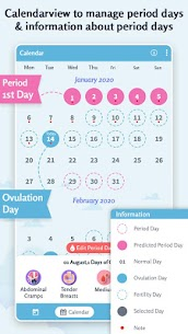 Period Tracker: Ovulation Calendar & Fertile Days 1.6 Apk 5