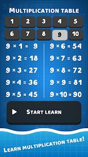 Math problems: mental arithmetic game 10