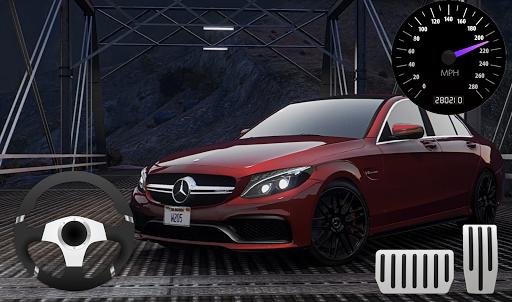 Parking Mercedes C63 AMG City Drive apkpoly screenshots 4