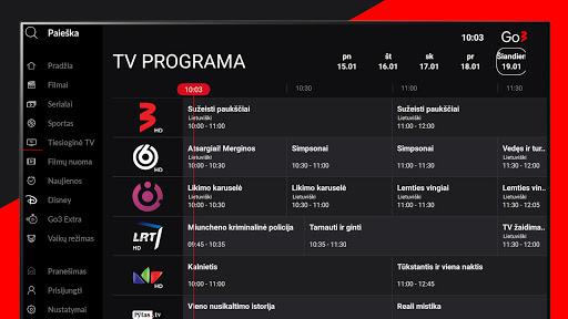 Go3 Lithuania (Android TV) screenshots 3