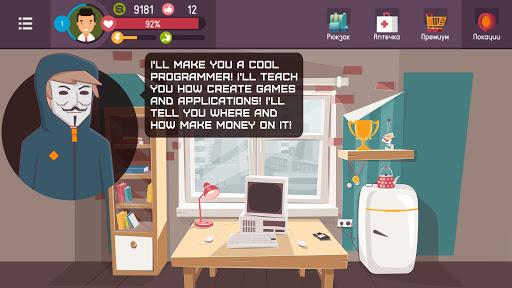 Hacker - tap smartphone tycoon, life simulator https screenshots 1