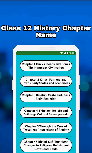 12th Class History Notes & MCQ android2mod screenshots 4
