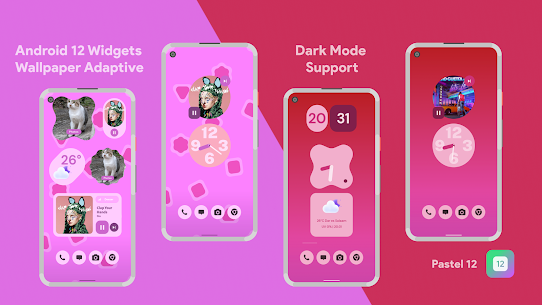 Pastel 12 – Android 12 Widgets for KWGT Pro For Android 4