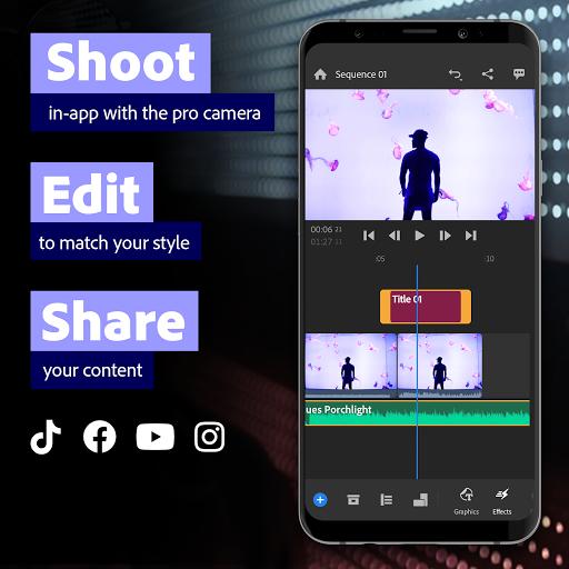 Adobe Premiere Rush u2014 Video Editor 1.5.56.1264 screenshots 1