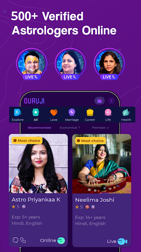 Guruji - Live Astrology, Horoscope, Kundli, Tarot apktram screenshots 2