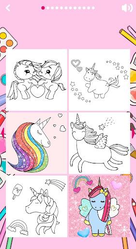 Unicorn Coloring Book ud83eudd84 2.2 screenshots 12