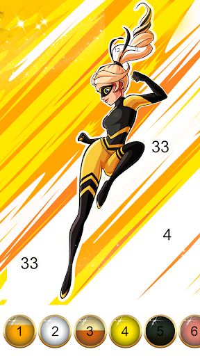 Miraculous Ladybug & Cat Noir. Color by number  screenshots 4