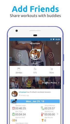 JEFIT Workout Tracker, Weight Lifting, Gym Log App screenshots 5