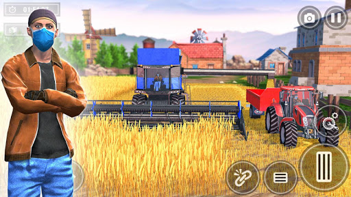 New Tractor Farming 2021: Free Farming Games 2021 apklade screenshots 2