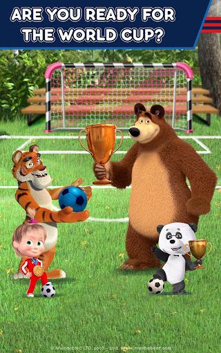 Masha and the Bear: Football Games for kids Apkfinish screenshots 10