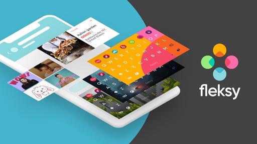 Fleksy Free keyboard Themes with Emojis Swipe-type screen 0