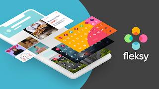 aplikasi keyboard android terbaik fleksy + GIF keyboard
