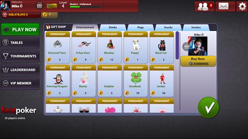 FacePoker Texas Holdem Poker 2.9 screenshots 10