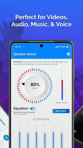 Speaker Boost: Volume Booster & Sound Amplifier 3D screen 1
