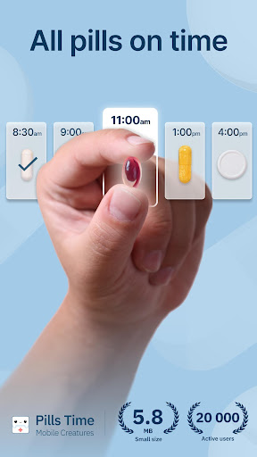 Pills Time Medication Tracker & Pill Reminder screenshot for Android