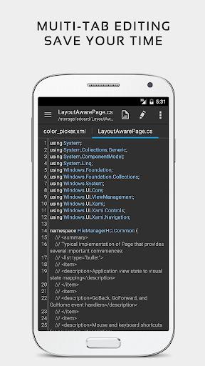 QuickEdit Text Editor - Writer & Code Editor 1.7.4 Screenshots 4