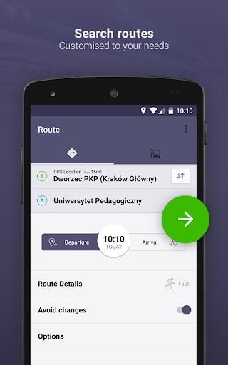 Jakdojade: public transport 4.6.13 Screenshots 1