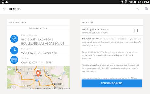 CarzUP - car rental app