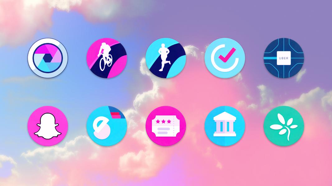 Unicorn Roundies - Free Launcher Theme