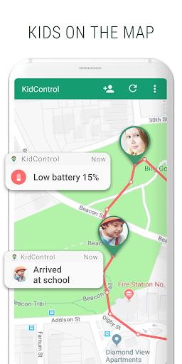 Family GPS tracker KidsControl  Screenshots 5