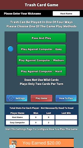 trash card game screenshot 2