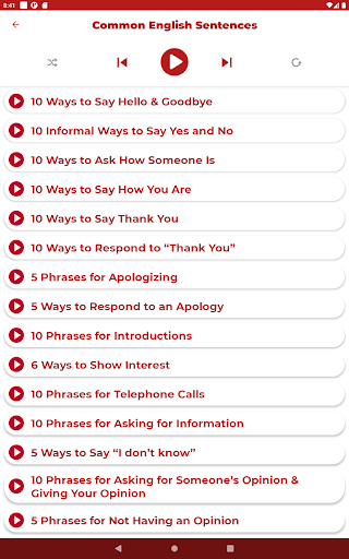Learn English - Listening and Speaking modavailable screenshots 10