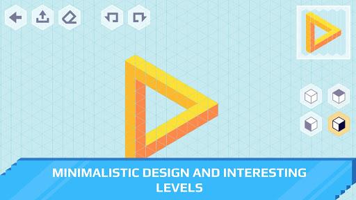 isometric draw 3d - geometric art screenshot 2