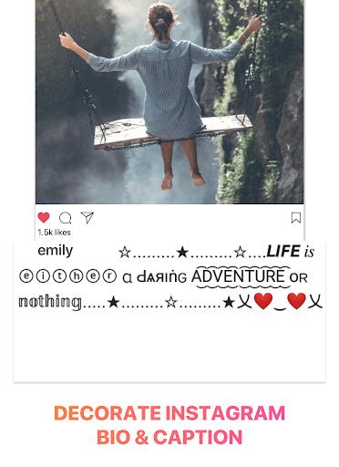 Cool Fonts for Instagram - Stylish Text Fancy Font 4.9 Screenshots 6