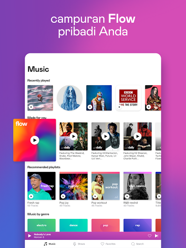 Deezer – Pemutar musik & daftar putar