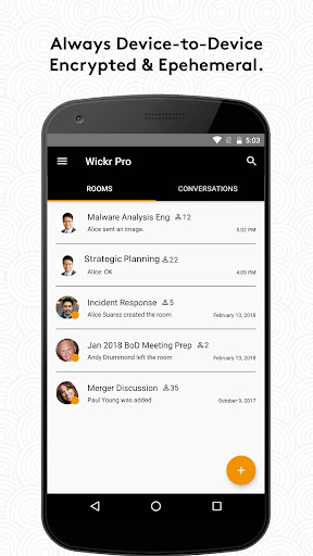 Wickr Me – Private Messenger  screenshots 1