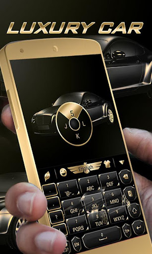 luxury car go keyboard theme screenshot 2