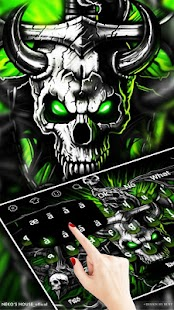 Gothic Metal Graffiti Skull Keyboard Theme Screenshot