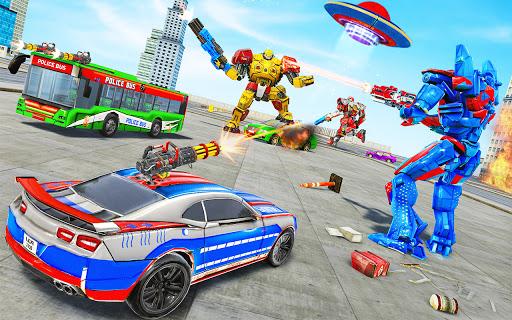 Bus Robot Car Transform War u2013Police Robot games 3.9 screenshots 11